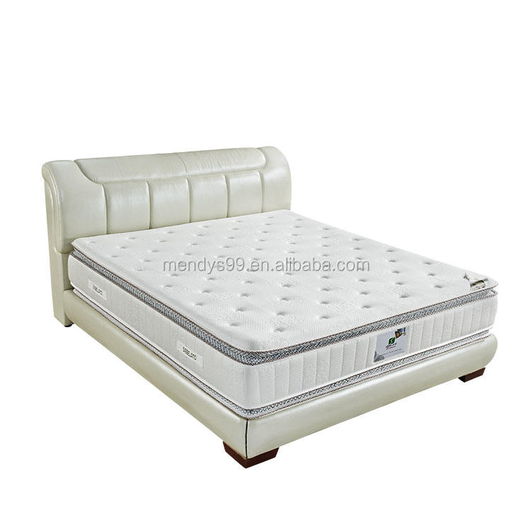 High quality king size natural latex health memory Foam pocket spring mattress