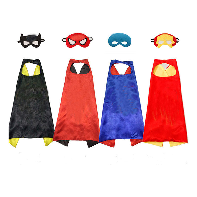 High quality children kids halloween christmas kids cape and mask