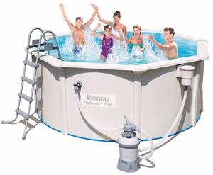 Bestway 56566 white metal frame swimming pool 10FT/12FT/15FT/16FT/20FT/24FT