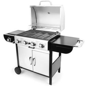 4+1 Burners Gas Barbecue BBQ Cook Grill With Side Burner