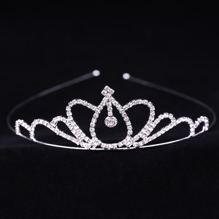 XULIN Princess Rhinestone+Copper Tiara Kids Crown