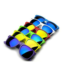 cheap sunglasses Custom own logo Neon Promotion sunglasses with UV 400 party glasses