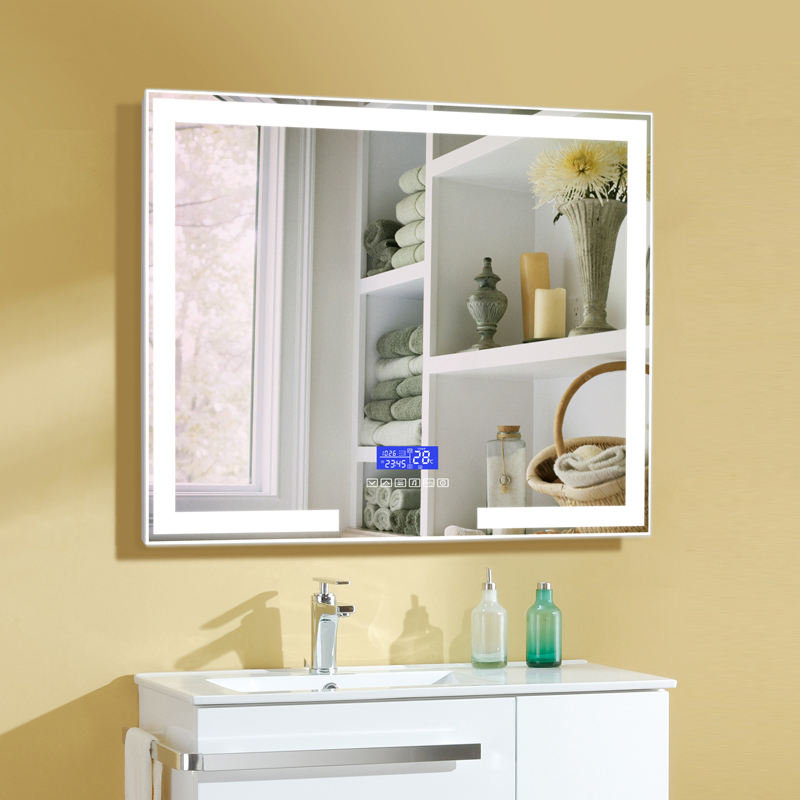 Hotel Wall-mounted LED Lighted Vanity Bath Mirror for Makeup Music Speaker