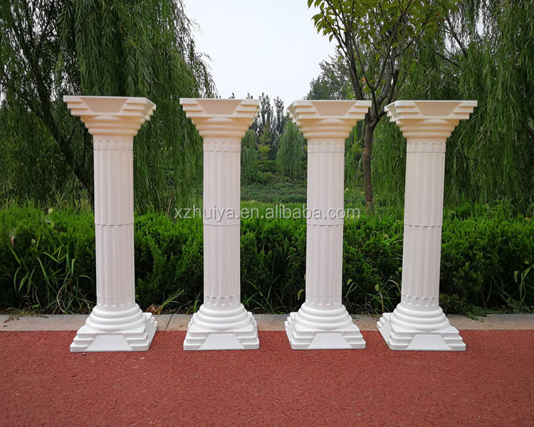 2018 plastic romantic column crystal pillar plastic walkway stand wedding decoration & event party centerpiece