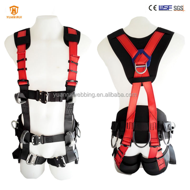 23kn [ Harness Climbing ] Climbing Harness Full Body Safety Harness Safety Belt Climbing Safety Harness