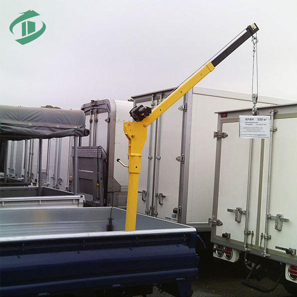 Low price hitch mounted truck crane pickup crane with winch