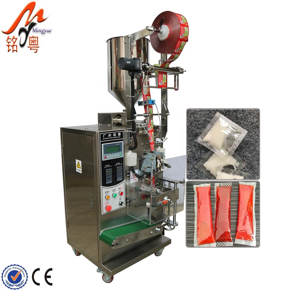 Guangzhou Mingyue honey ketchup sachet packing machine liquid packaging equipment