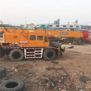 25 ton boom truck KATO SR-250 rough terrain 25ton Secondhand mobile crane,KATO SR 250 original japanese off road 25ton crane