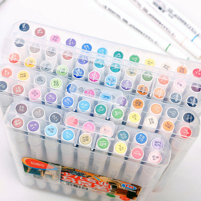 Custom 12 colors Oil-Based Paint Markers Fine Point Assorted Colors Wet-Erase Transparency Markers durable marker pen