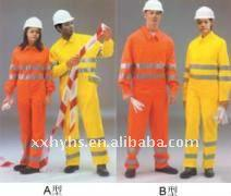 Flame resistant safety clothing
