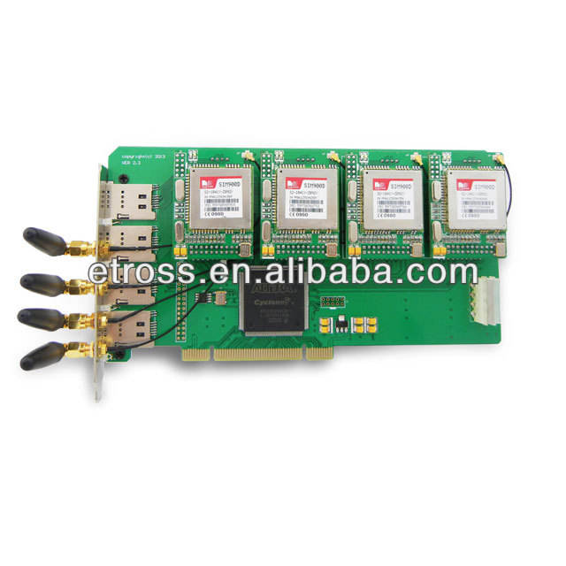 GSM Asterisk card ET400G with 4 GSM modules