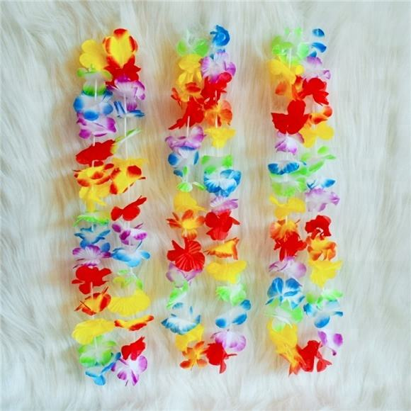 2020 New Style Artificial Hawaii Flower Lei Necklace For Party