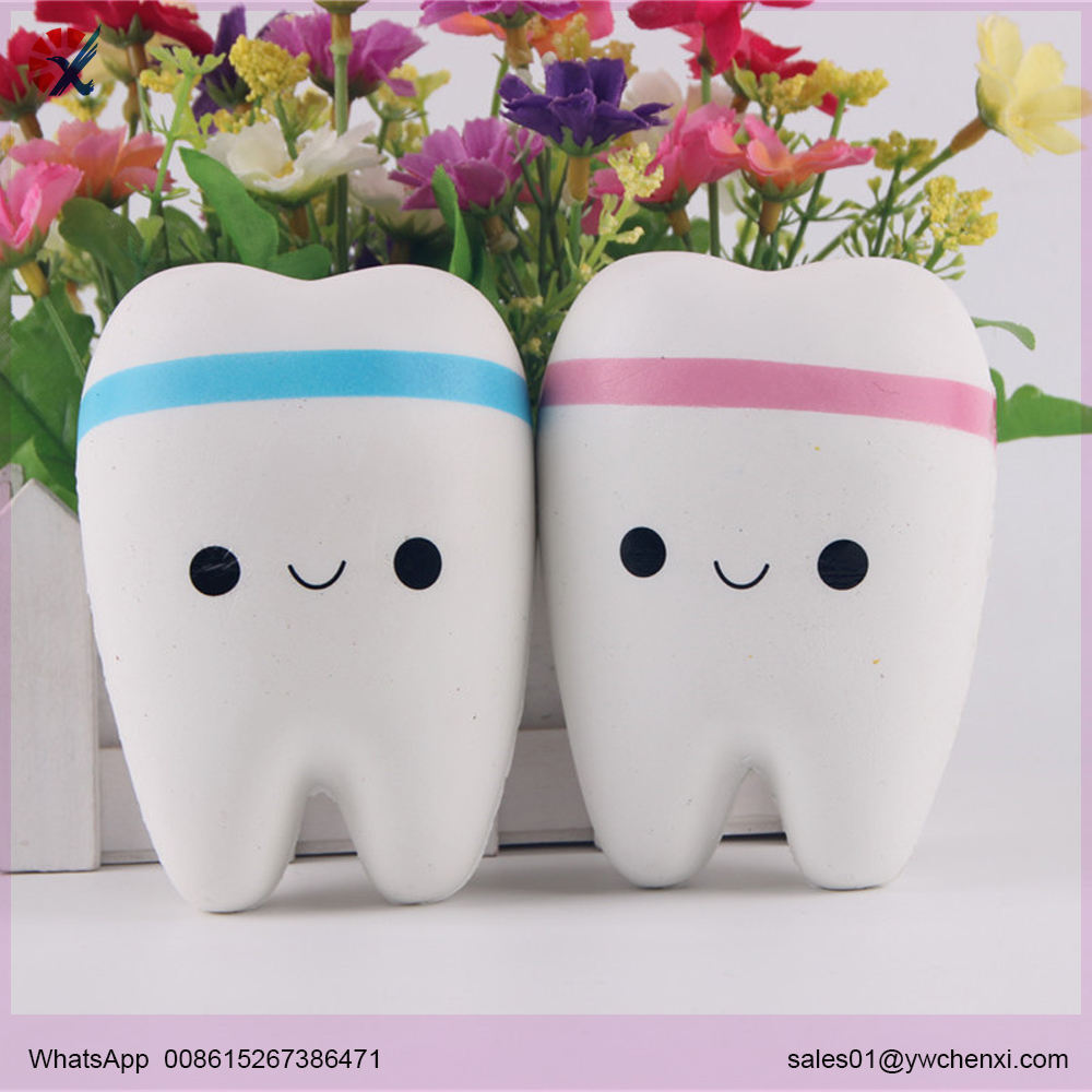 Soft Teeth Squishy Slow Rising Jumbo Squeeze Upscale Jumbo Cell Phone Strap Teeth Pendant Toy