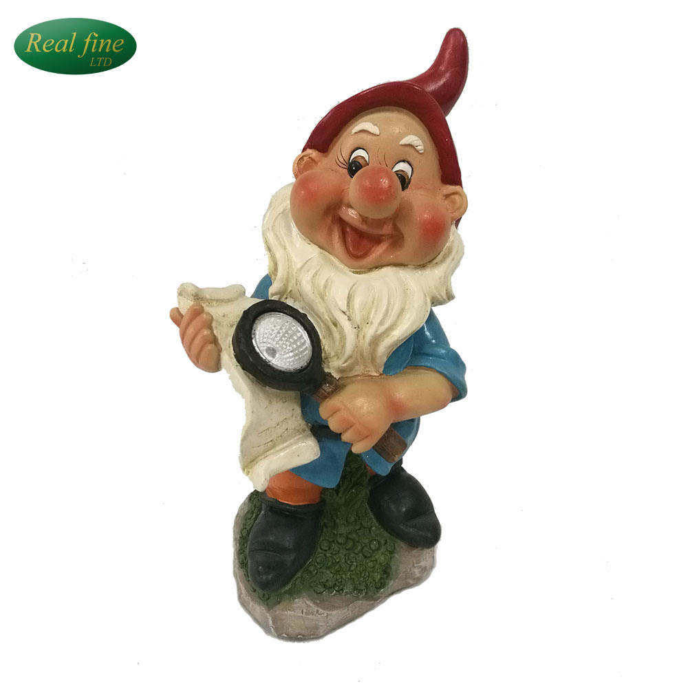 exquisite family decoration ceramic gnome for sale