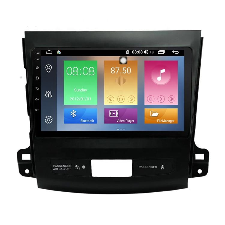 IOKONE New Support Bluetooth Carplay ADAS Navigation Joying Android 9.0 Car For Mitsubishi Outlander 2006 2007 2008 2009-2012