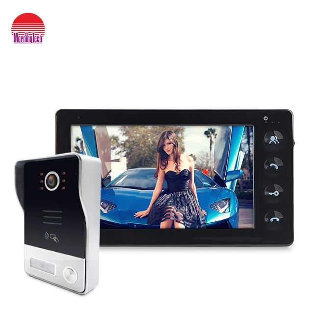 Home security doorbell camera with night vision and motion decision for 4 wired video door phone intercom