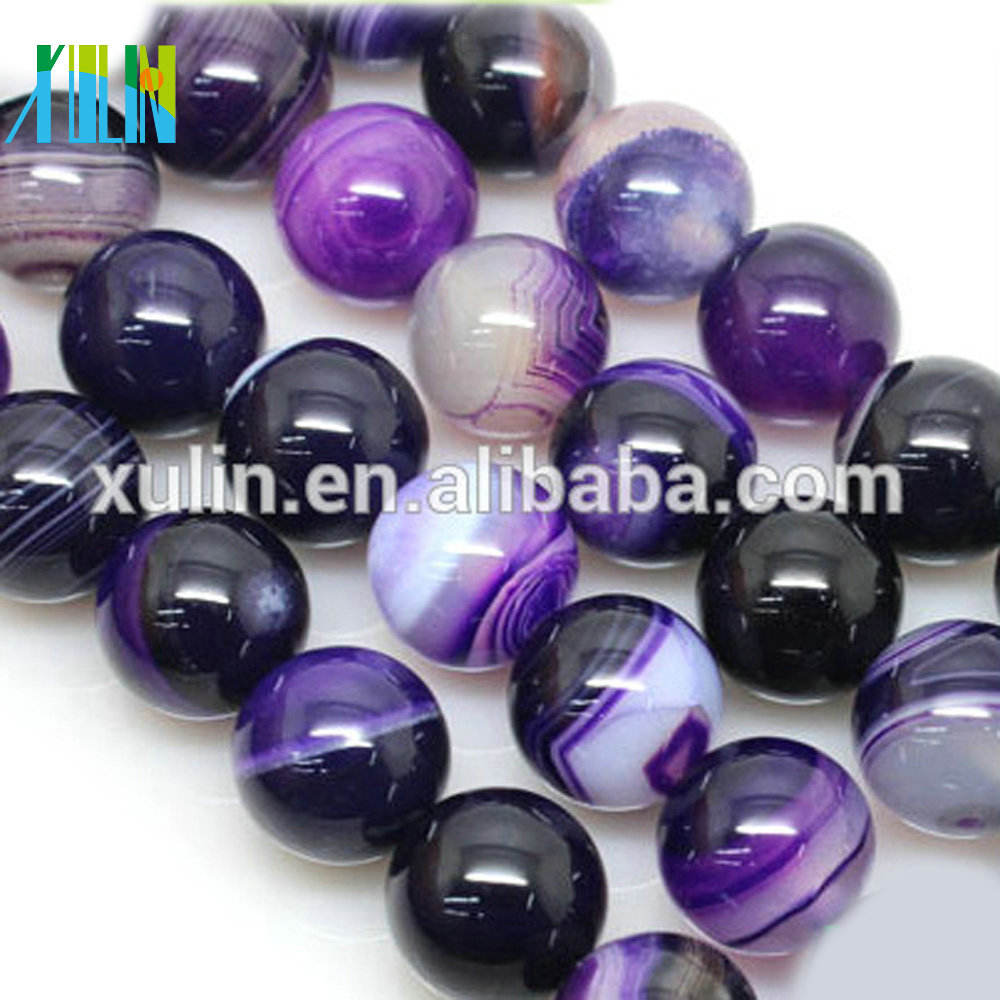XULIN 8mm jade natural violet nature gemstone round stone beads