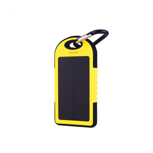Universal Solar Power Bank Waterproof Solar Charger 5000mah Sun Energy Solar Panel Battery with Keychain