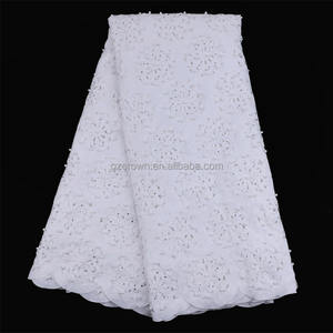 High quality 100% cotton polish lace fabric African embroidery lace fabric No.LP41200129