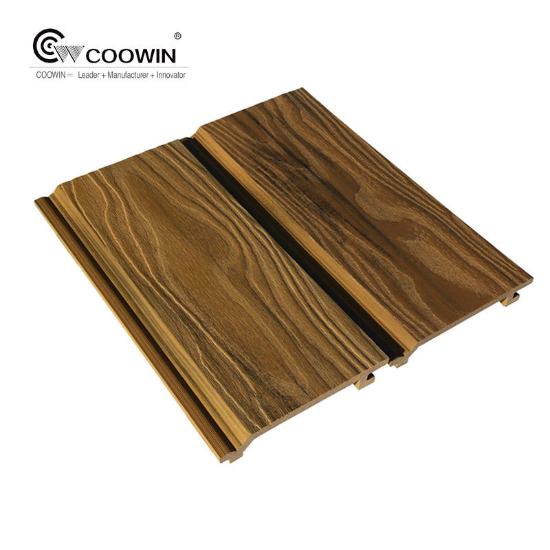 Best Selling Dark Color Exterior Quick Installation PVC WPC Decorative Wall Panels