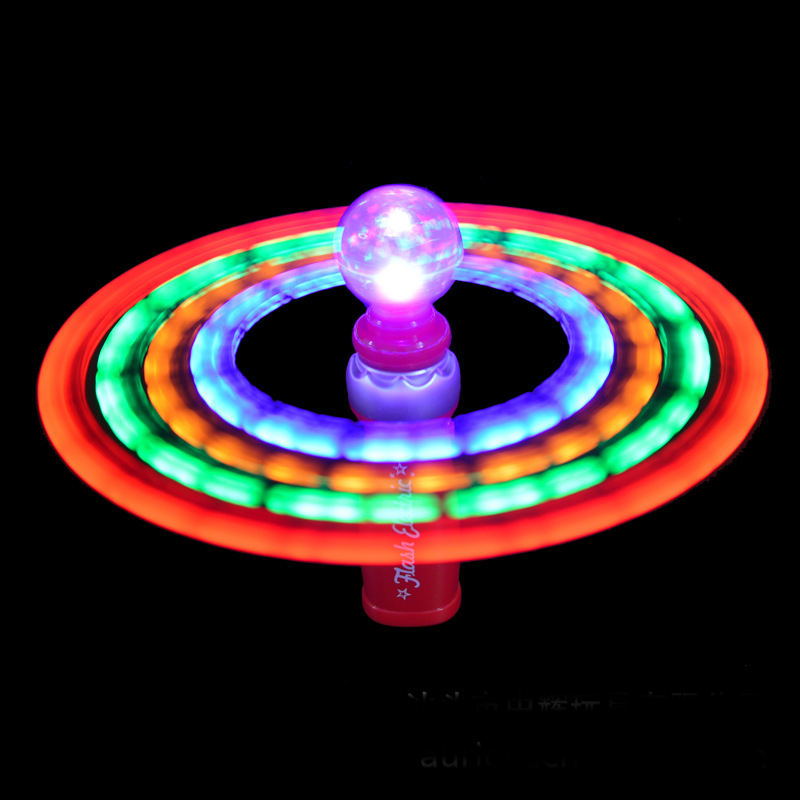 Hand-Held LED Flashing UFO Spinning wind spinner parts adam and eve products catalog toys novelties led galaxy spinner