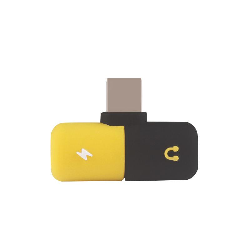 Neueste Silikon Mini Adapter Dual Licht Ning Lade Audio Adapter