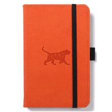 Wildlife Pocket A6  Portrait Hardcover Notebook  PU Leather, Micro-Perforated  Cream Pages, Inner Pocket