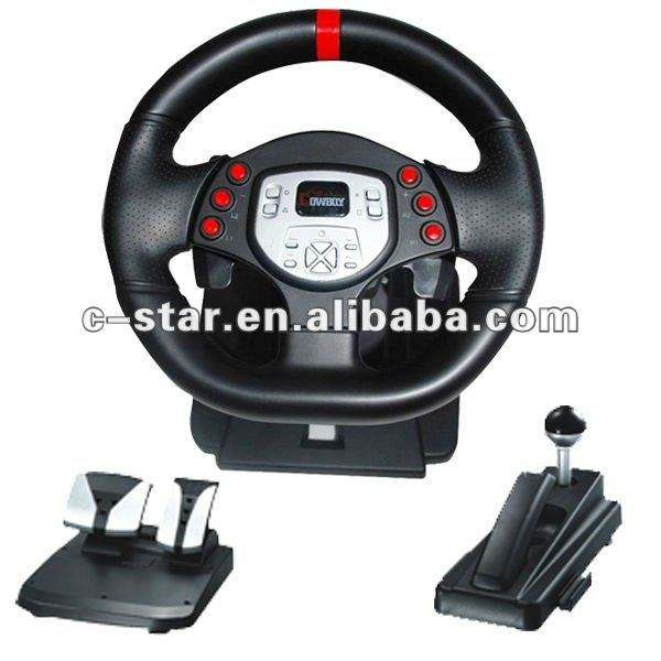 Video Game Car Steering Wheel For PS2 PS3 PC USB Video Game