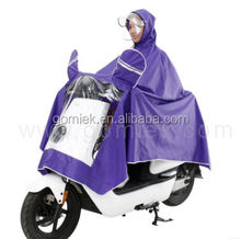 Motorcycle with Handbag new fashion rain coat pvc raincoat poncho for heavy rain