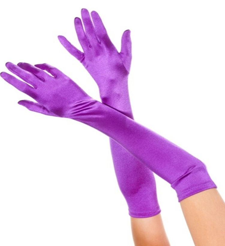 Elastic Long Dress Spandex Gloves