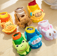 New Baby Cartoon Animals Cotton Socks Newborn 0-3Y Warm Home Floor Non-slip Socks 3D Socks For Baby Handmade