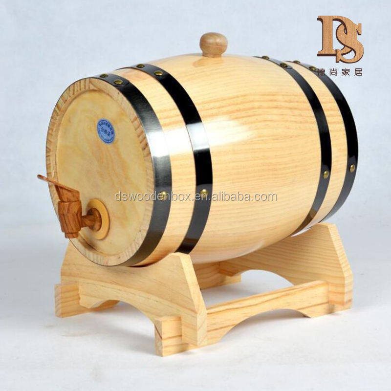 Wood Material and Home Decoration Used 5 L Barrel Oak Wooden Whiskey Beer Wine Tequila Barrel