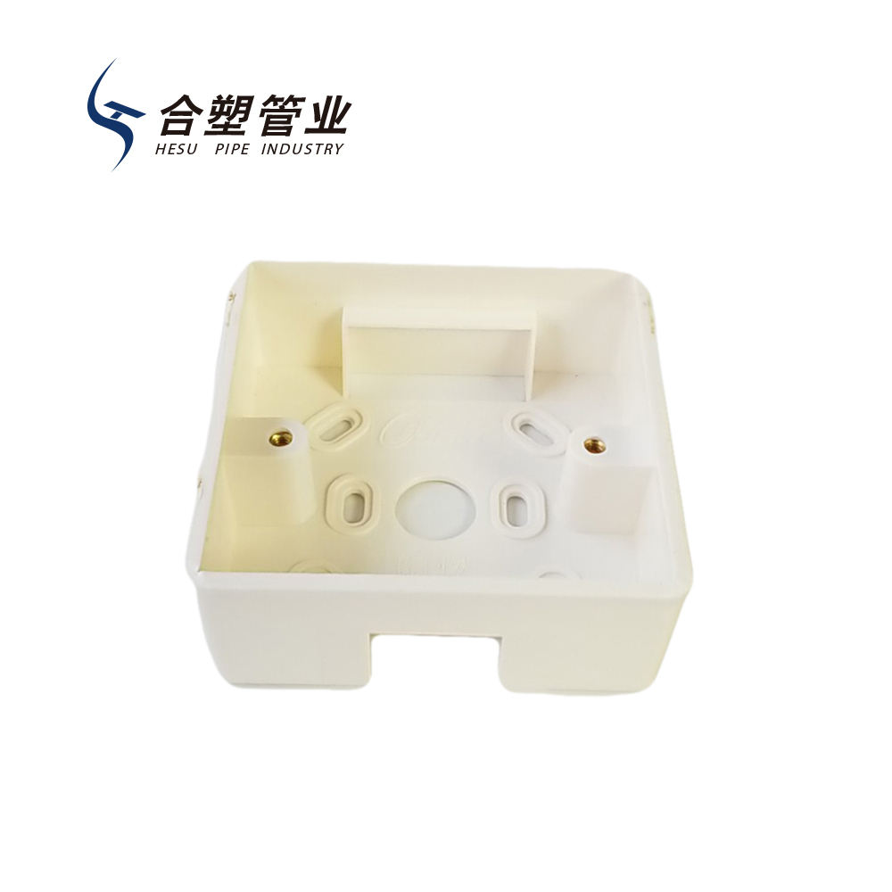 Factory Outlet PVC Electrical Pipe Fitting Naked Switch Box for Wire Protection