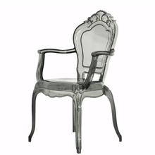 Latest Design Acrylic Leisure PC King Throne Chair European palace chair Carved Transparent exquisite Chair