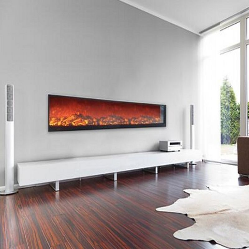 72 inch deco Flame insert electric fireplace