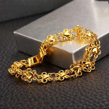 XL7027 xuping jewelry gold charm bracelet for women