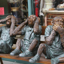 Bronze art Foundry Outdoor Metal Bronze Garden Bronze Sculpture 3 Monkeys