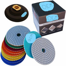 Flexible wet polishing pad marble granite polishing pad with backing