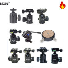 Bexin fluid camera tilt head digital dslr 360 degree rotating swivel 1/4 photography professional camera mount tripod ball head