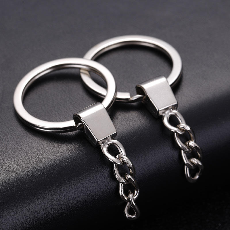 2019 Top Quality 2.0 x 30mm Metal Split Flat Key Ring Keyring Parts Promotional Keychain key chain with Logo