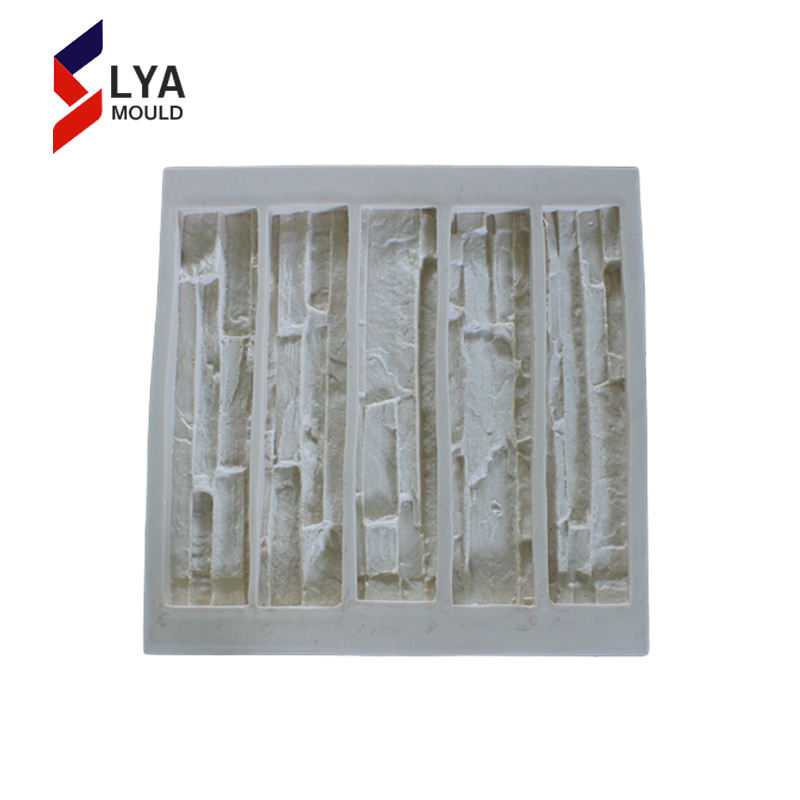 Veneer Concrete Stone Silicone Mould polyurethane artificial cultured marble wall stone molds