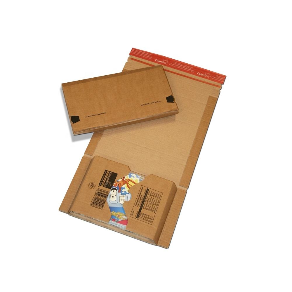 easy folded brown Corrugated Cardboard book mailer