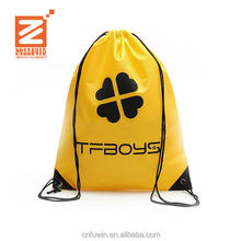 Factory price custom logo printed reusable colorful fabric drawstring gift bag for promotion