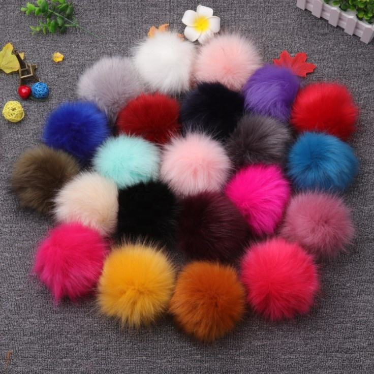Factory wholesale a variety of colors 5 to 15 cm plush fake fur pom pom ball