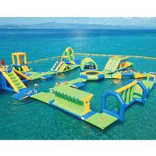 2019 New Aqua Inflatable Water Game In Greece/ Floating Inflatable Sea Waters Park Price