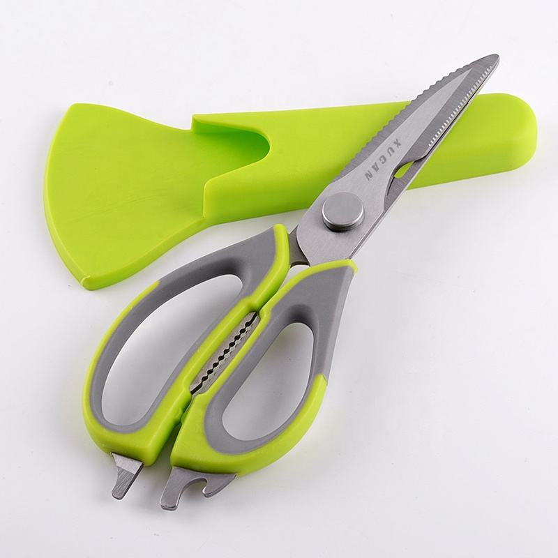 Kitchen Shears, Chicken Bone Scissors. Chef's Heavy Duty Kitchen Scissors 8-in-1 Multi-Purpose Utensils with Magnetic Holder