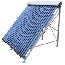 Manufacture pressurized evacuated vacuum tube solar collector