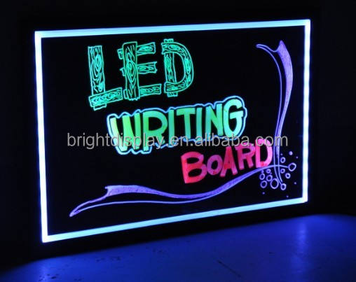 OEM flashing changeable make LED restaurant menu writing board.