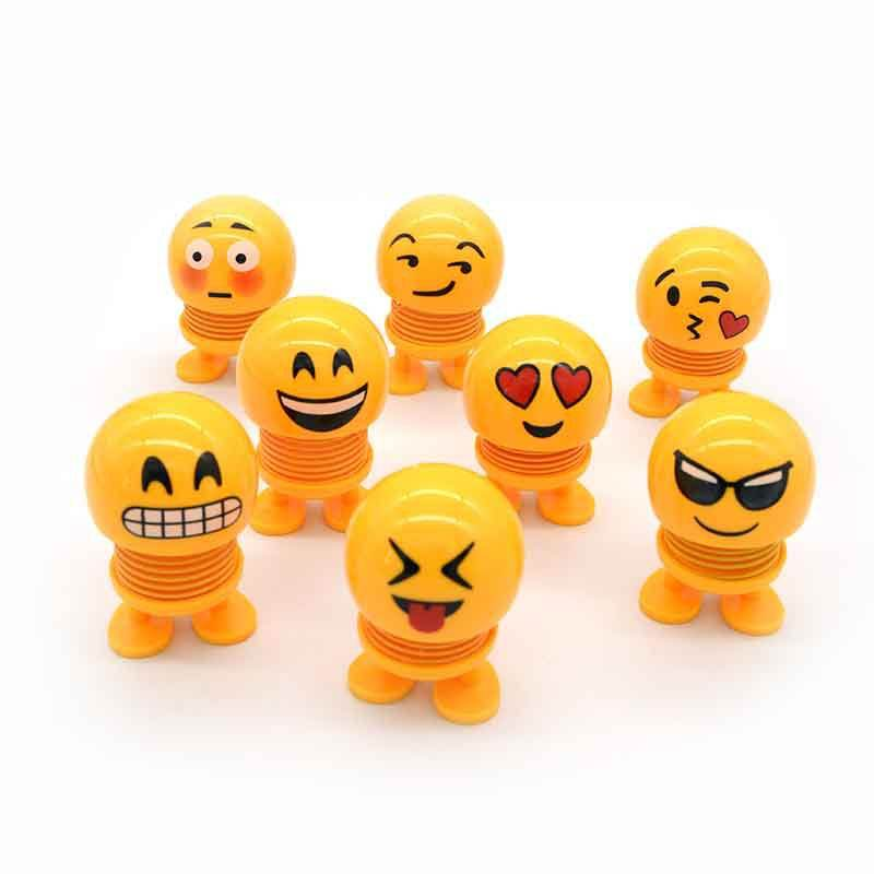 2019 Emoji toy Smile Face Spring Shaking Head Bouncing Doll Toys For Car Decorate