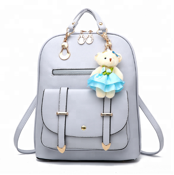 2018 new backpack women's leisure women's leather bags fashion women's portable travel student backpack